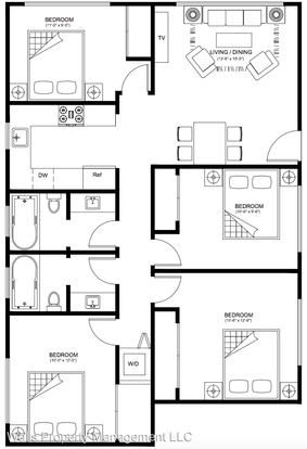 4 Bedrooms 2 Bathrooms Apartment for rent at 2237 Nw 59th St in Seattle, WA