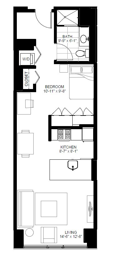 Studio 1 Bathroom Apartment for rent at Marquee At Block 37 in Chicago, IL