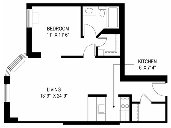 1 Bedroom 1 Bathroom Apartment for rent at Us Chestnut Place, Llc (res) in Chicago, IL
