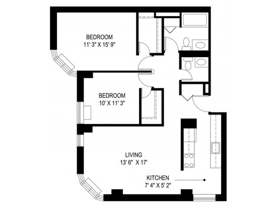 2 Bedrooms 1 Bathroom Apartment for rent at Us Chestnut Place, Llc (res) in Chicago, IL
