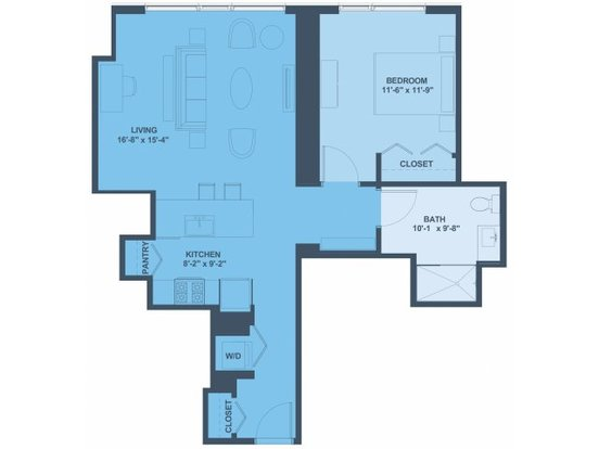 1 Bedroom 1 Bathroom Apartment for rent at 1001 South State Street in Chicago, IL
