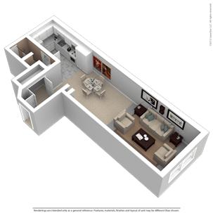 Studio 1 Bathroom Apartment for rent at Kunzelmann Esser Lofts in Milwaukee, WI