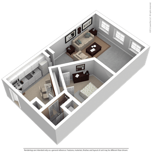 1 Bedroom 1 Bathroom Apartment for rent at Kunzelmann Esser Lofts in Milwaukee, WI