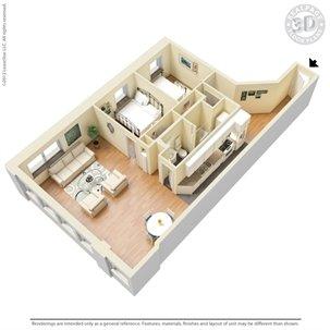 2 Bedrooms 1 Bathroom Apartment for rent at Kunzelmann Esser Lofts in Milwaukee, WI