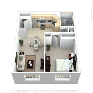 1 Bedroom 1 Bathroom Apartment for rent at Golden Domes Apartment Homes in Milwaukee, WI