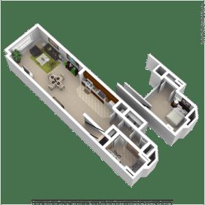 1 Bedroom 1 Bathroom Apartment for rent at Gund Brewery Lofts in La Crosse, WI