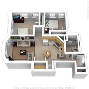 2 Bedrooms 1 Bathroom Apartment for rent at Majestic Lofts in Milwaukee, WI