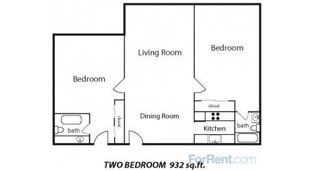 2 Bedrooms 2 Bathrooms Apartment for rent at Audubon Park Place Apartments in Memphis, TN