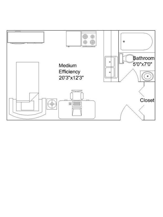 Studio 1 Bathroom Apartment for rent at Langdon Hall in Madison, WI