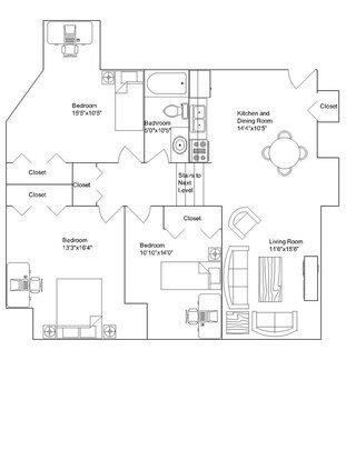 3 Bedrooms 1 Bathroom Apartment for rent at Langdon Hall in Madison, WI