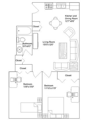 2 Bedrooms 1 Bathroom Apartment for rent at Langdon Hall in Madison, WI