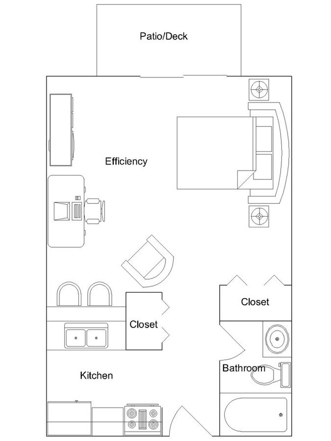 Studio 1 Bathroom Apartment for rent at Briarwood Apartments in Madison, WI