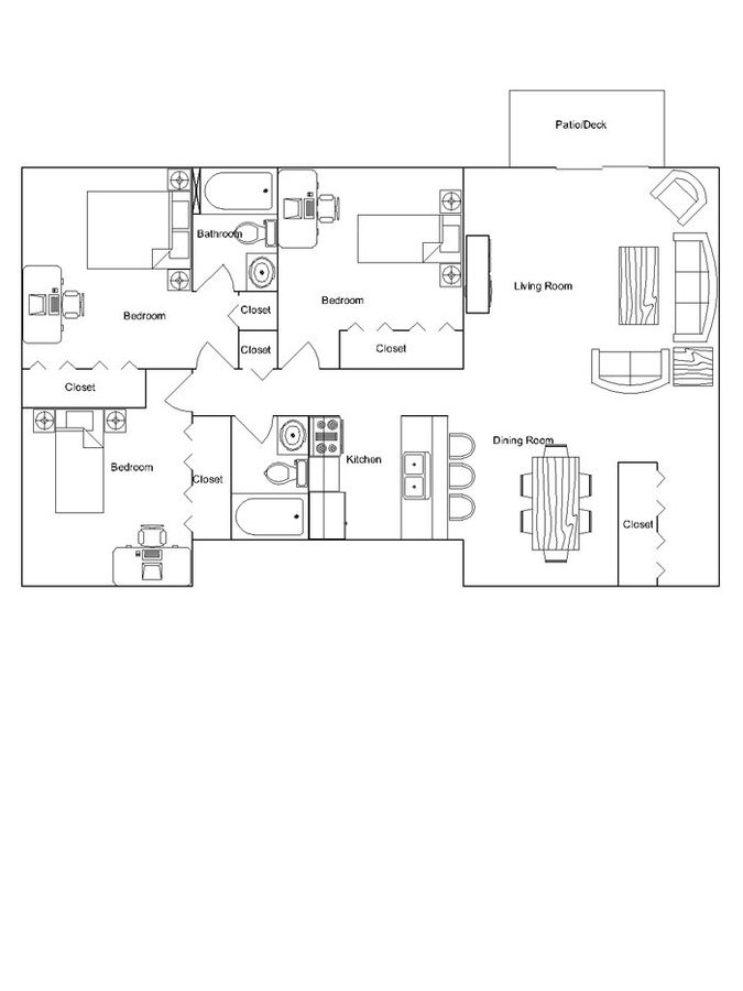 3 Bedrooms 2 Bathrooms Apartment for rent at Briarwood Apartments in Madison, WI