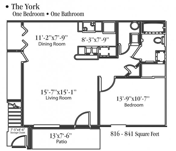 1 Bedroom 1 Bathroom Apartment for rent at Ashbrook Run in Canal Winchester, OH