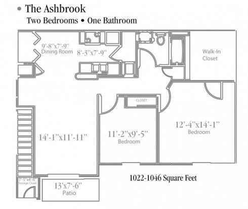 2 Bedrooms 1 Bathroom Apartment for rent at Ashbrook Run in Canal Winchester, OH