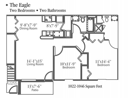 2 Bedrooms 2 Bathrooms Apartment for rent at Ashbrook Run in Canal Winchester, OH