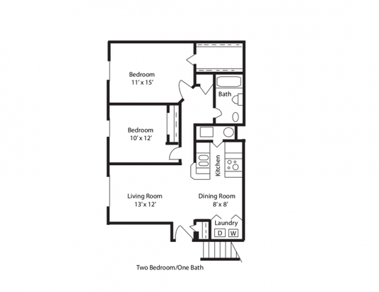 2 Bedrooms 1 Bathroom Apartment for rent at Bear Pointe Apartments in Powell, OH