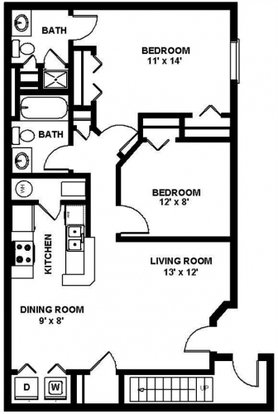 2 Bedrooms 2 Bathrooms Apartment for rent at Bridgestone Apartments in Hilliard, OH