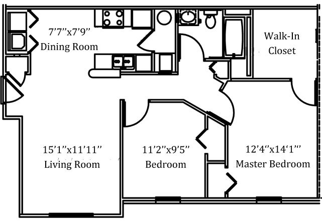 2 Bedrooms 1 Bathroom Apartment for rent at Caleb's Creek Apartments in Westerville, OH