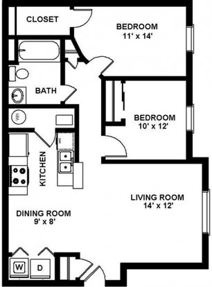 2 Bedrooms 1 Bathroom Apartment for rent at Collier Park in Grove City, OH