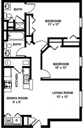 2 Bedrooms 2 Bathrooms Apartment for rent at Collier Park in Grove City, OH