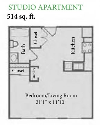 Studio 1 Bathroom Apartment for rent at The Enclave at Albany Park in Westerville, OH