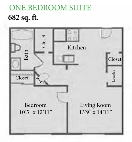 1 Bedroom 1 Bathroom Apartment for rent at The Enclave at Albany Park in Westerville, OH