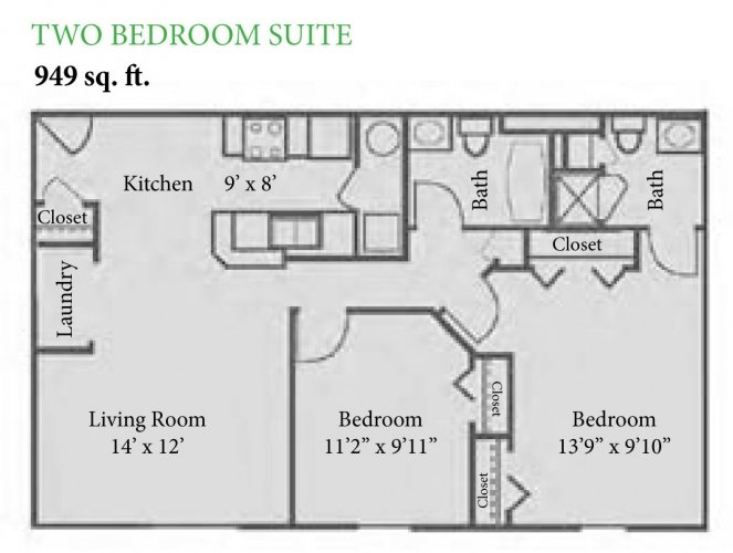 2 Bedrooms 2 Bathrooms Apartment for rent at The Enclave at Albany Park in Westerville, OH