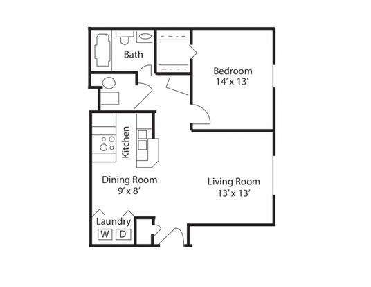 1 Bedroom 1 Bathroom Apartment for rent at Hilliard Station Apartments in Hilliard, OH