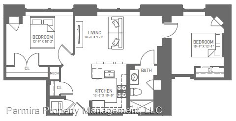 2 Bedrooms 1 Bathroom Apartment for rent at 115 N Charles St., in Baltimore, MD
