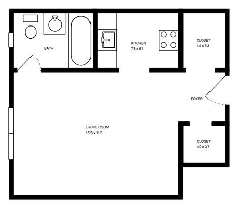 Studio 1 Bathroom Apartment for rent at Melwood Manor in Pittsburgh, PA