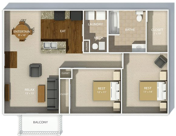 2 Bedrooms 1 Bathroom Apartment for rent at Andover Park in Columbus, OH