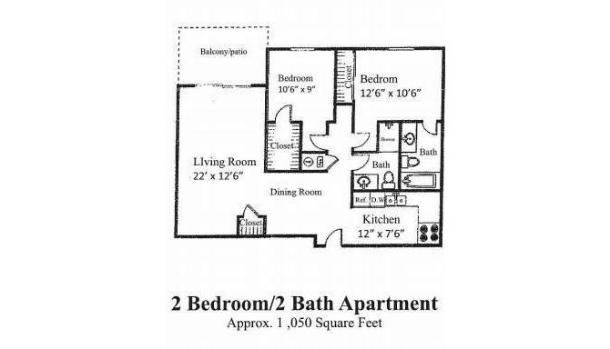 2 Bedrooms 2 Bathrooms Apartment for rent at Prospect Hills in Topeka, KS