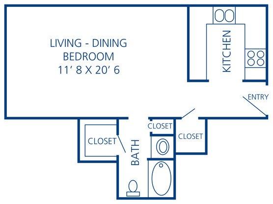 Studio 1 Bathroom Apartment for rent at Rosecrest Apartments in Memphis, TN