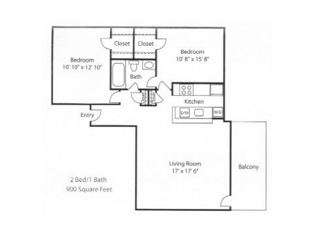 2 Bedrooms 1 Bathroom Apartment for rent at Blair Tower in Memphis, TN
