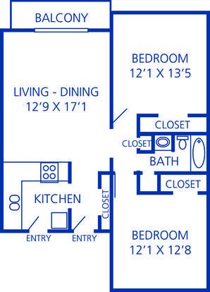 2 Bedrooms 1 Bathroom Apartment for rent at Rosecrest Apartments in Memphis, TN