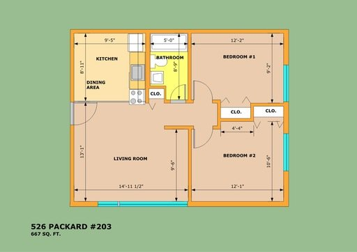 2 Bedrooms 1 Bathroom Apartment for rent at 526 Packard St in Ann Arbor, MI
