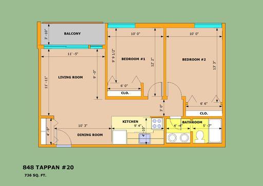 2 Bedrooms 1 Bathroom Apartment for rent at Park Terrace in Ann Arbor, MI
