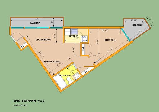 1 Bedroom 1 Bathroom Apartment for rent at Park Terrace in Ann Arbor, MI