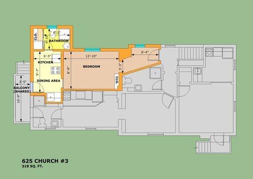 Studio 1 Bathroom Apartment for rent at 625 Church St in Ann Arbor, MI