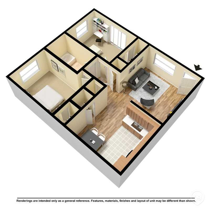 2 Bedrooms 1 Bathroom Apartment for rent at Evergreen Manor Apartments in St Louis, MO