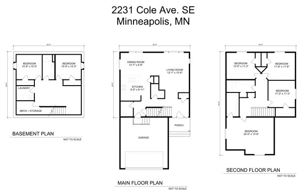 5 Bedrooms 2 Bathrooms House for rent at 2231 Cole Ave Se in Minneapolis, MN