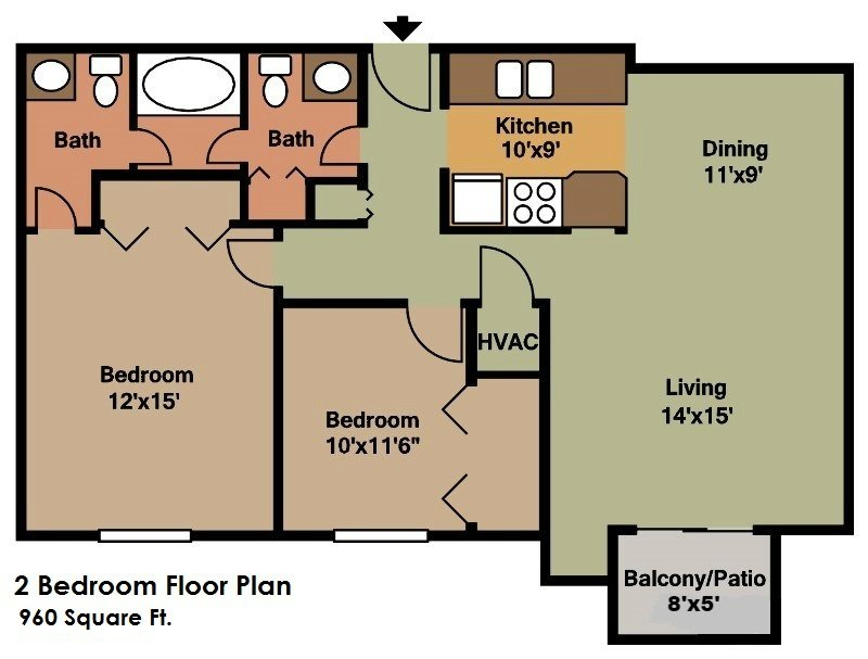 2 Bedrooms 2 Bathrooms Apartment for rent at Sun Valley Apartments in Fitchburg, WI