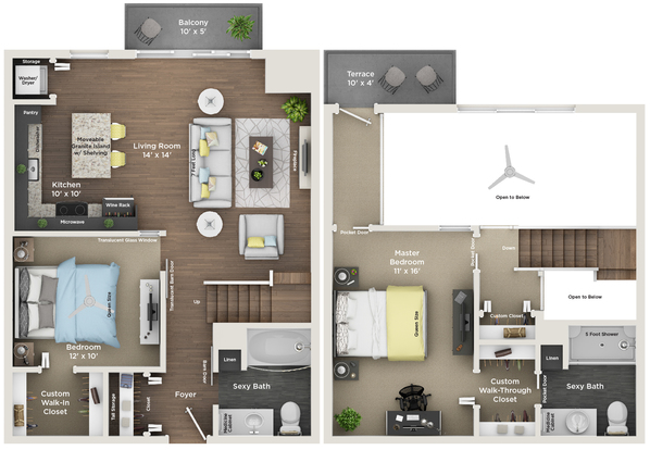 2 Bedrooms 2 Bathrooms Apartment for rent at Southside Works City Apartments in Pittsburgh, PA