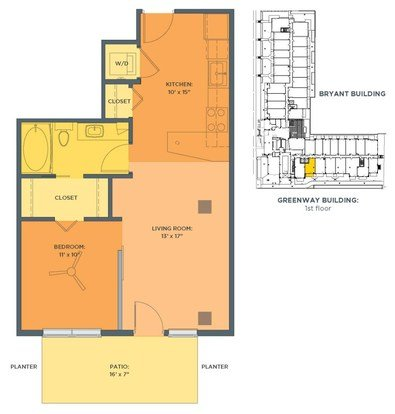 1 Bedroom 1 Bathroom Apartment for rent at Track 29 City Apartments in Minneapolis, MN