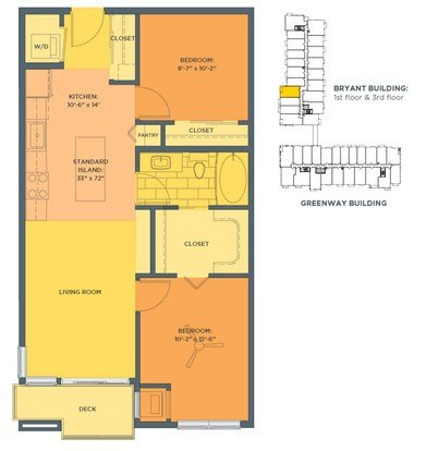 2 Bedrooms 1 Bathroom Apartment for rent at Track 29 City Apartments in Minneapolis, MN