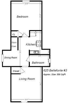 1 Bedroom 1 Bathroom Apartment for rent at 625 Bellefonte Street in Pittsburgh, PA