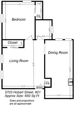 1 Bedroom 1 Bathroom Apartment for rent at 5703-5717 Hobart St in Pittsburgh, PA
