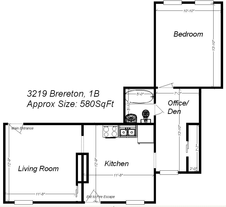 1 Bedroom 1 Bathroom Apartment for rent at 3219 Brereton Street in Pittsburgh, PA