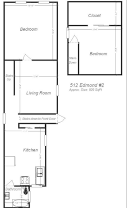 2 Bedrooms 1 Bathroom Apartment for rent at 512 Edmond Street in Pittsburgh, PA